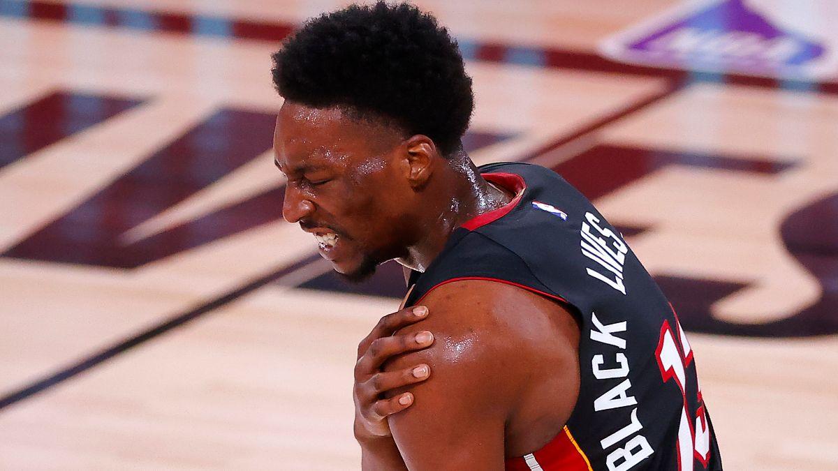 NBA Finals Injury News: Bam Adebayo, Goran Dragic Statuses Impacting Heat vs. Lakers Game 2 Odds article feature image