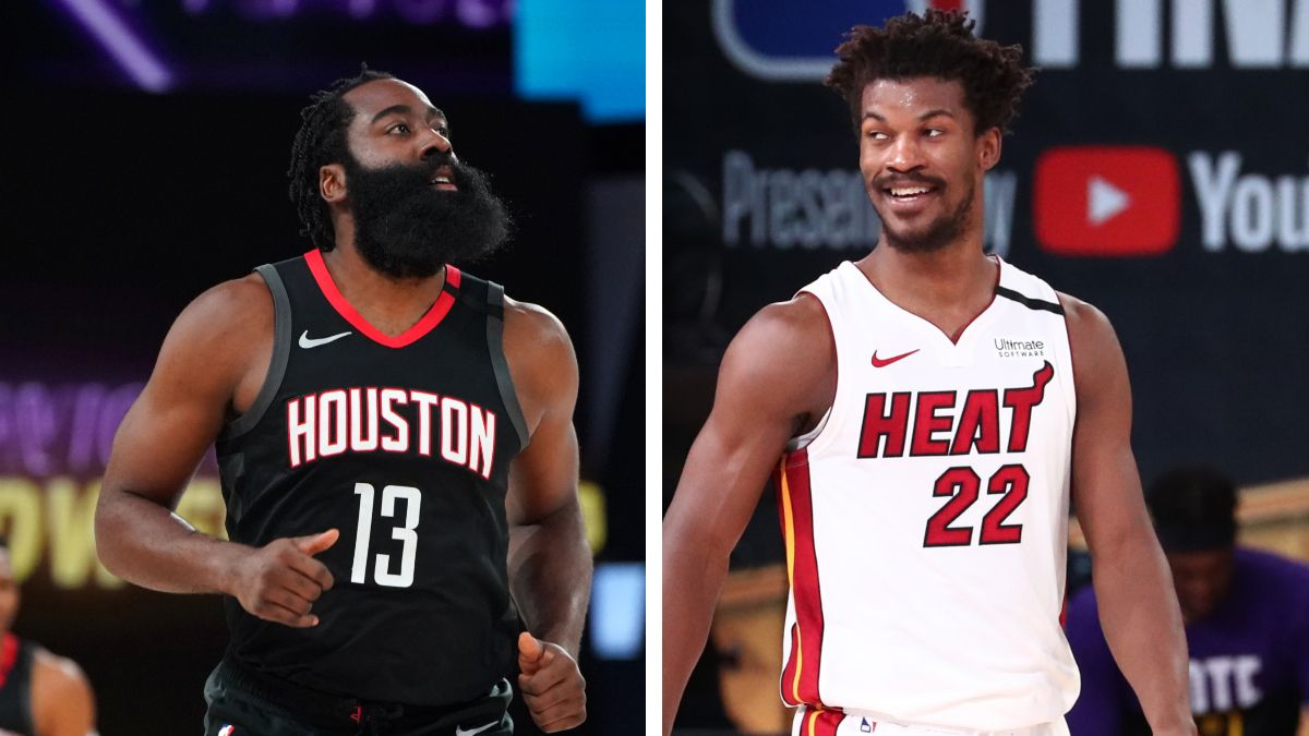 Moore: Would You Rather Have James Harden's Consistency, or Jimmy Butler's Apex? article feature image