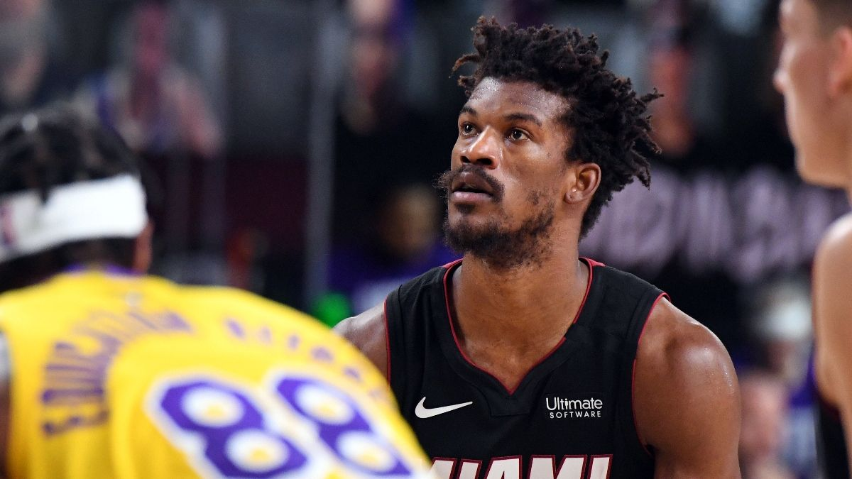 NBA Finals Betting Angles: Lakers Adjustment on Jimmy Butler Makes Game 5 a Tough Pick article feature image