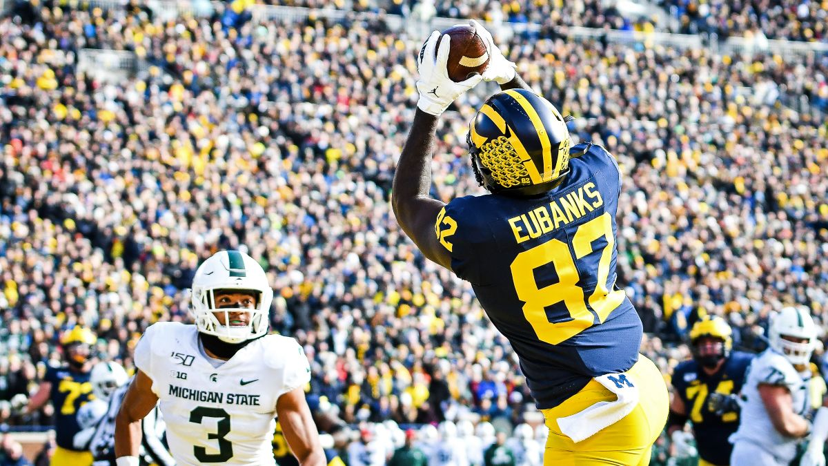 College Football Odds & Picks: Collin Wilson's Best Bets for Michigan vs. Michigan State, Plus 2 More Saturday Games article feature image