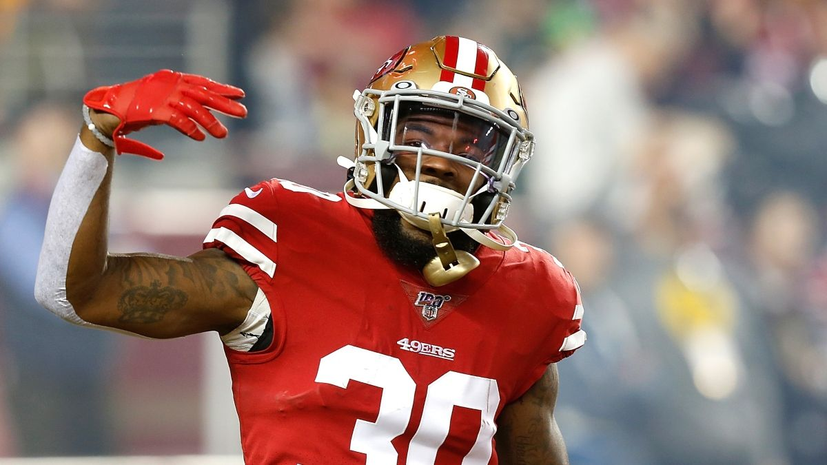 NFL Prop Picks: Bet This Jeff Wilson Over For Sunday Night Football Showdown Between 49ers vs. Eagles article feature image