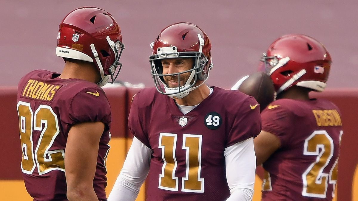 Alex Smith Questionable: How Quarterback's Injury is Impacting Washington-Tampa Bay Betting Line article feature image
