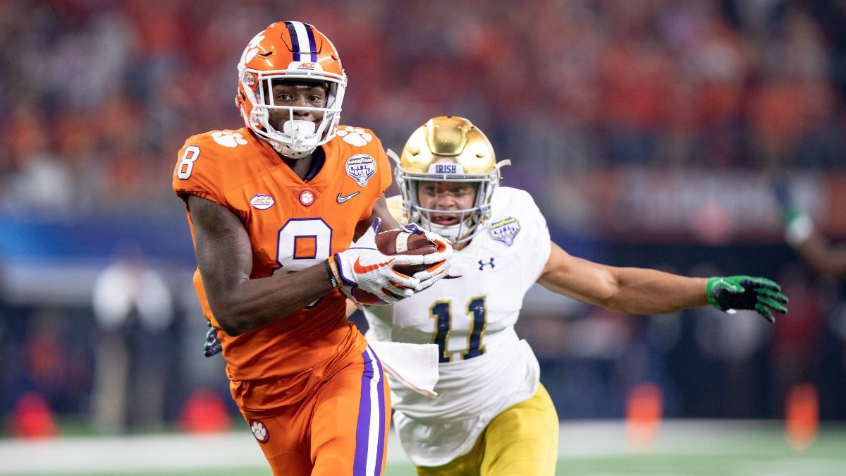 Notre Dame vs. Clemson Promo: Bet $1 on the Pre-Game ML/Spread, Win $100 on a 1H TD! article feature image