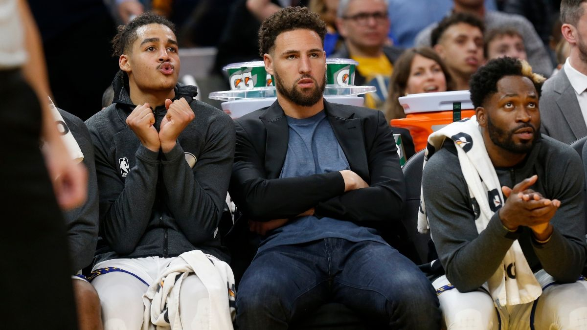 Klay Thompson Achilles Injury Sends Golden State Warriors' NBA Championship Odds Plummeting article feature image