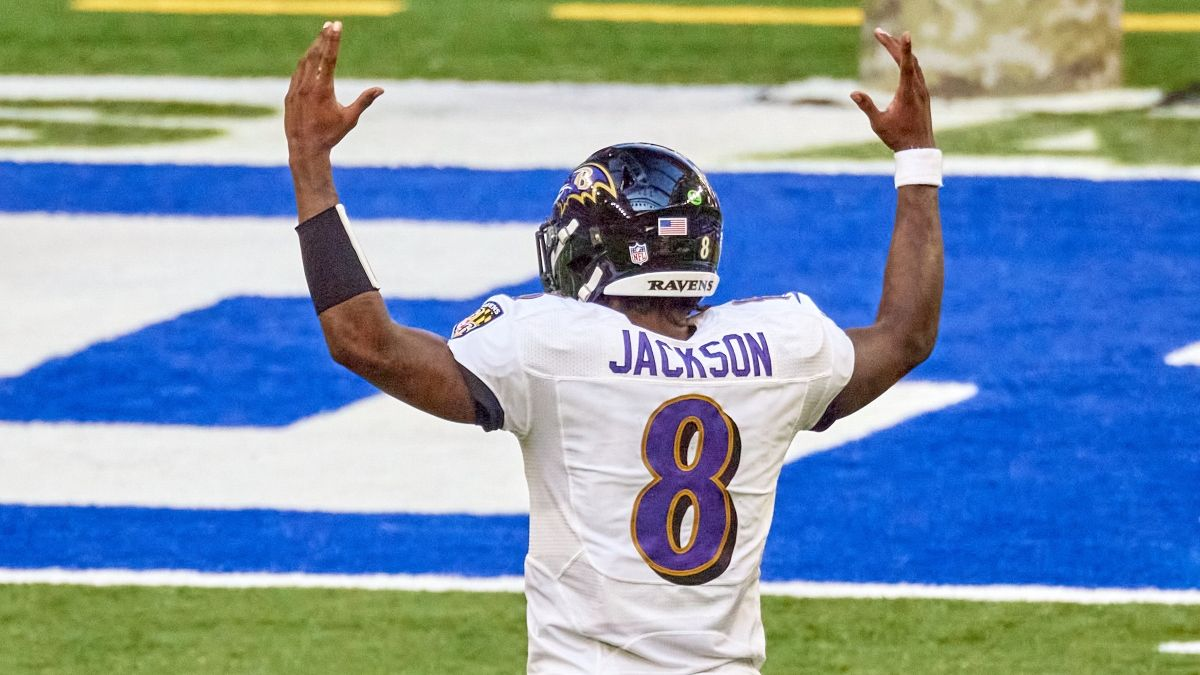 Tuesday Night Football Promo: Bet $20, Win $125 if Lamar Jackson Throws 1+ Yard! article feature image