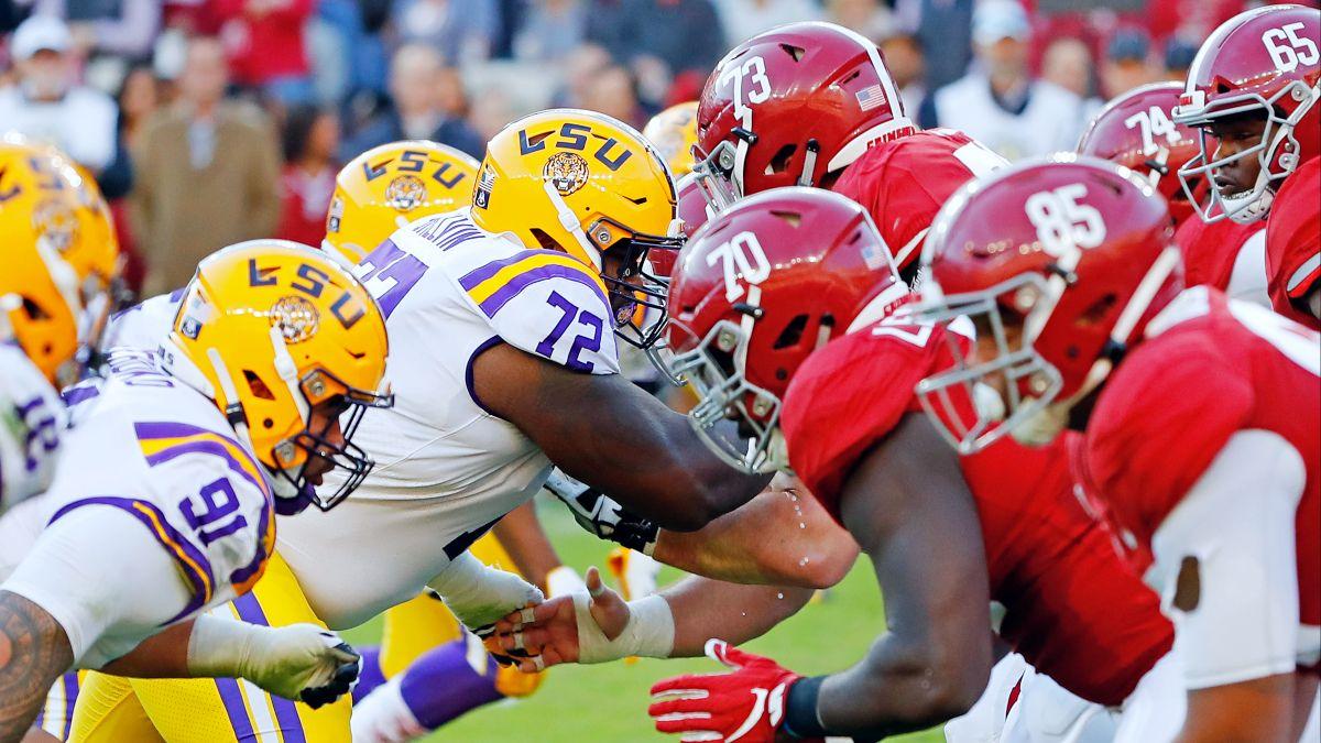 College Football Betting Odds & Picks: Alabama vs. LSU (Saturday, Dec. 5) article feature image