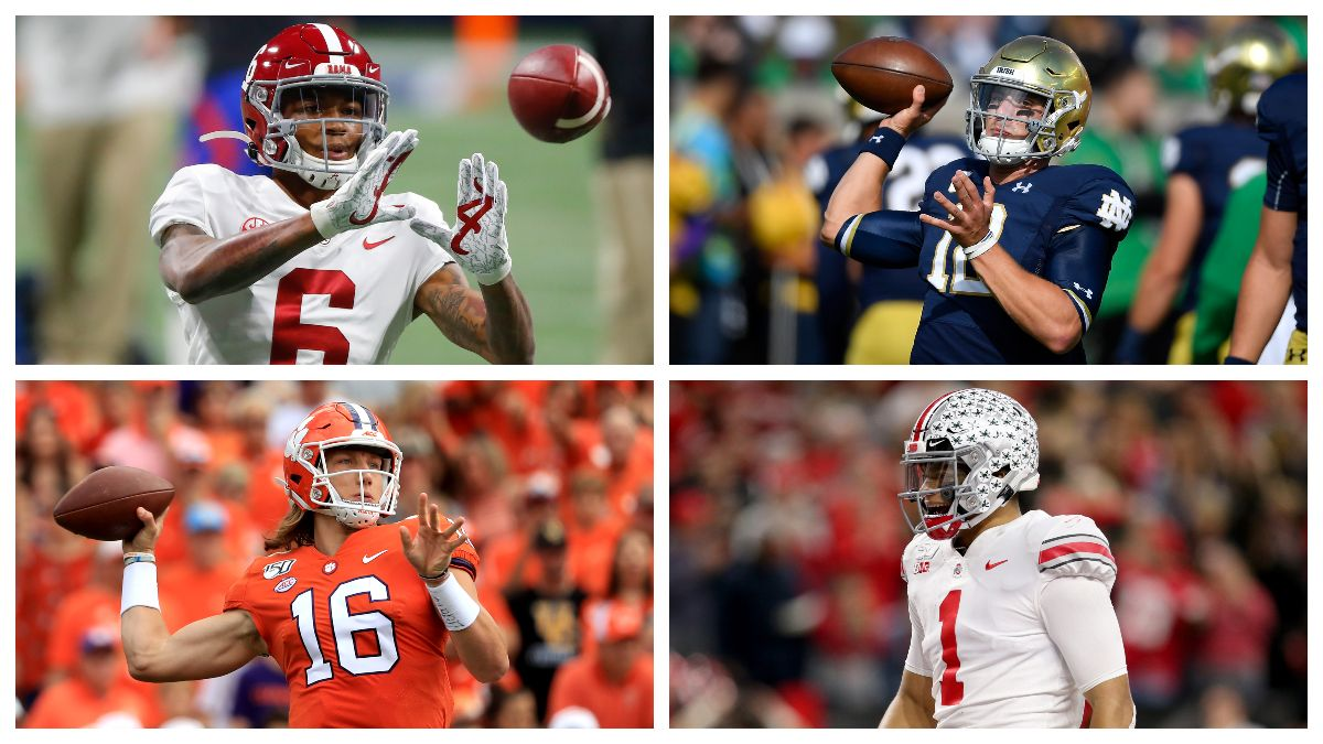 Alabama-Notre Dame & Clemson-Ohio State: Odds, Picks & Best Bets for Friday's College Football Playoff Games article feature image