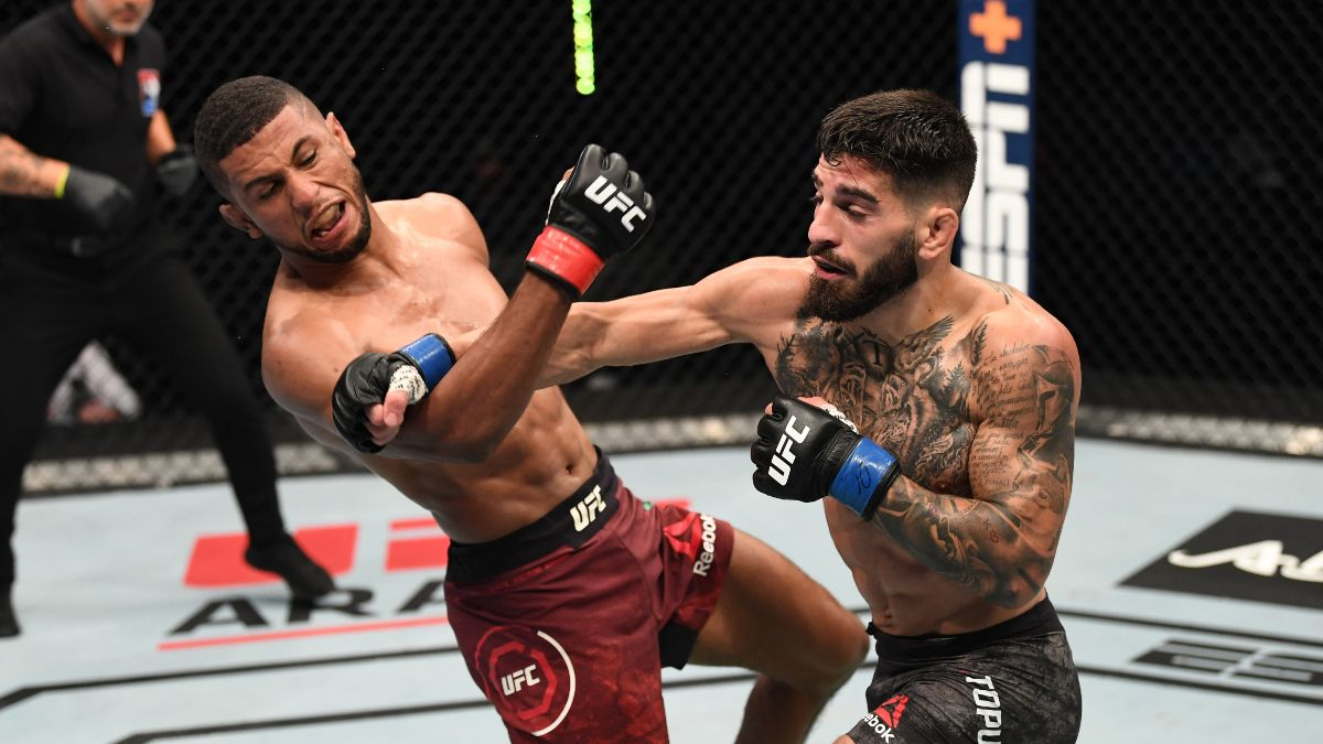 UFC Fight Night Picks, Predictions & Best Bets: Jackson vs. Topuria, Leavitt vs. Wiman (Saturday, Dec. 5) article feature image