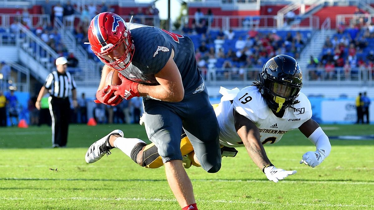 College Football Odds & Picks: How Sharps Are Betting Thursday's Florida Atlantic vs. Southern Miss Spread (Dec. 10) article feature image