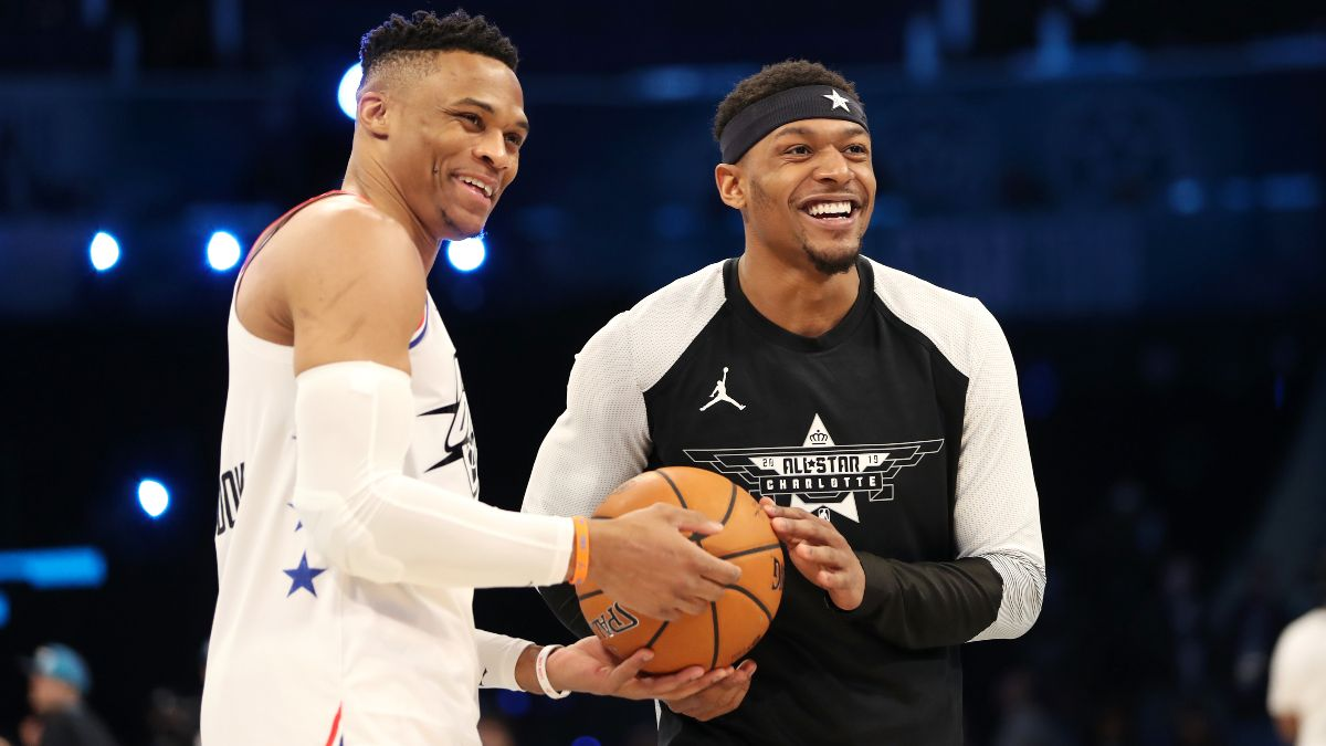 Russell Westbrook Trade Boosts Wizards' Win Total, Drops Rockets' Title Odds article feature image