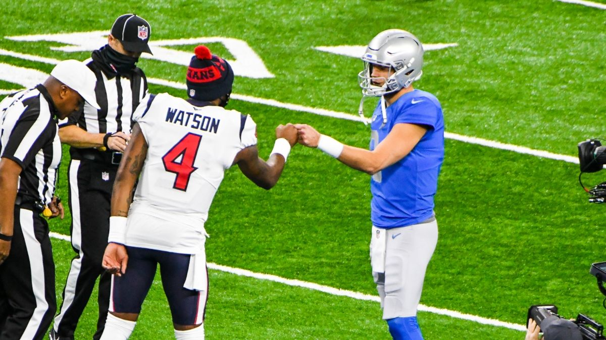 Deshaun Watson & Matthew Stafford Trade Odds: 4 Bets To Be Their Next Teams article feature image
