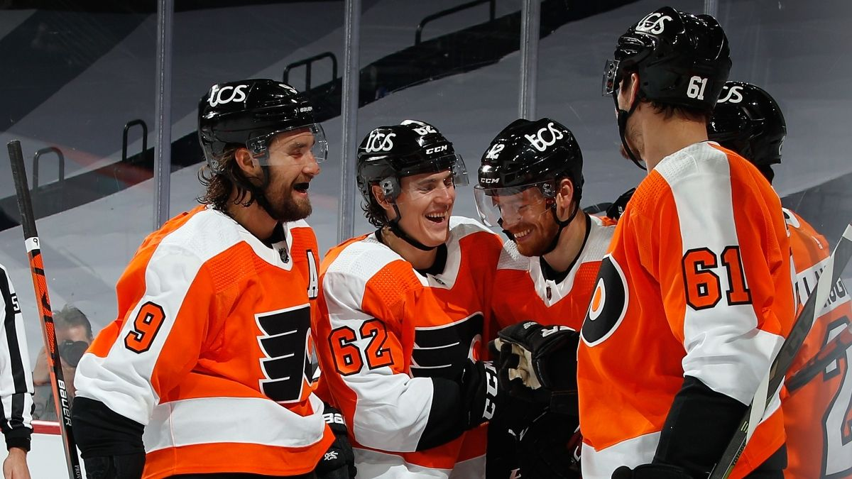 Flyers vs. Canucks Odds, Promo: Bet $1, Win $100 on a Flyers Goal! article feature image