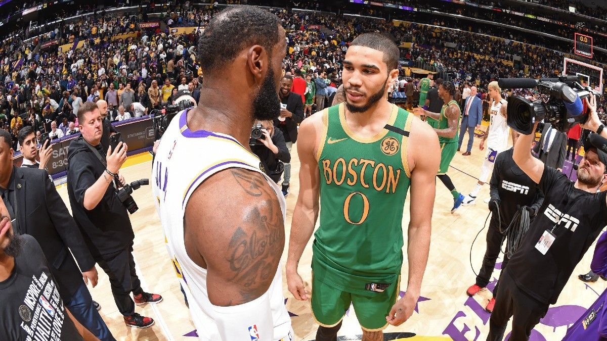 NBA Odds & Picks for Lakers vs. Celtics: Play the Over in Prime Time Showdown article feature image