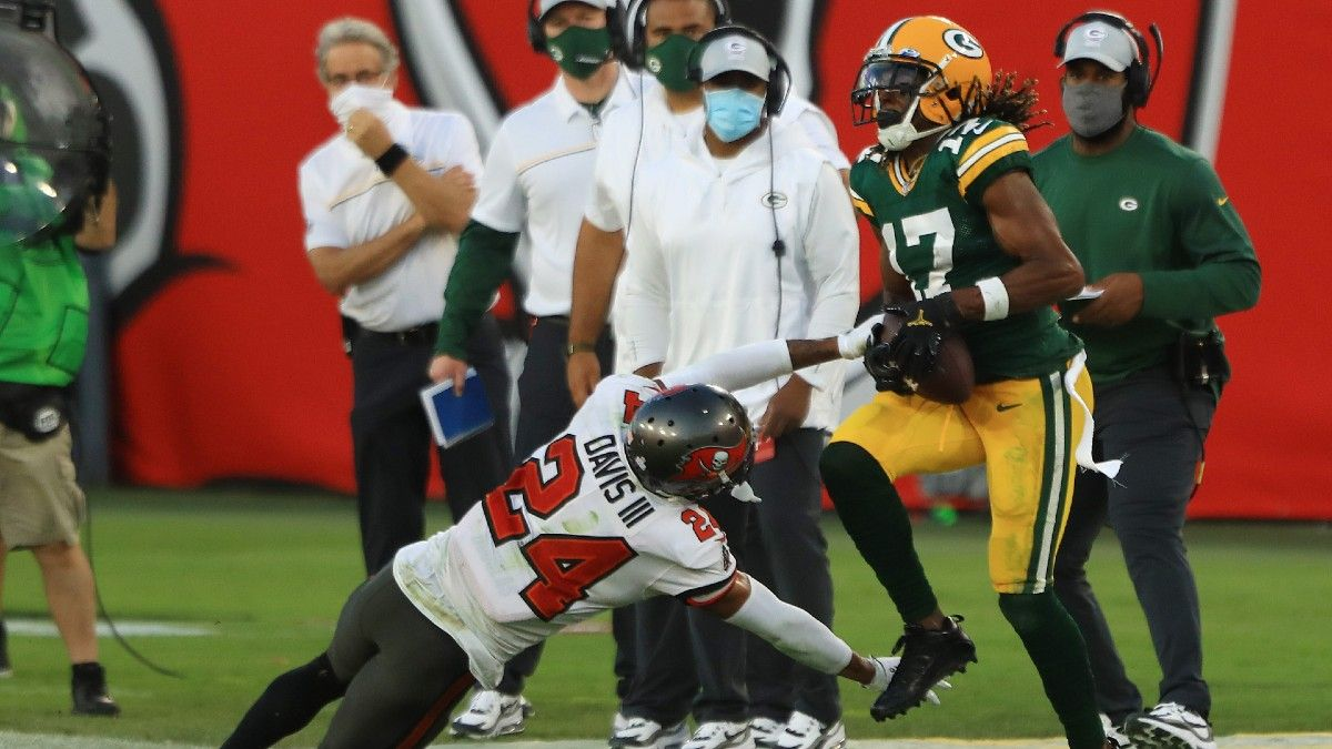 Packers vs. Buccaneers WR/CB Matchups: Moderate Downgrade for Davante Adams vs. Carlton Davis article feature image