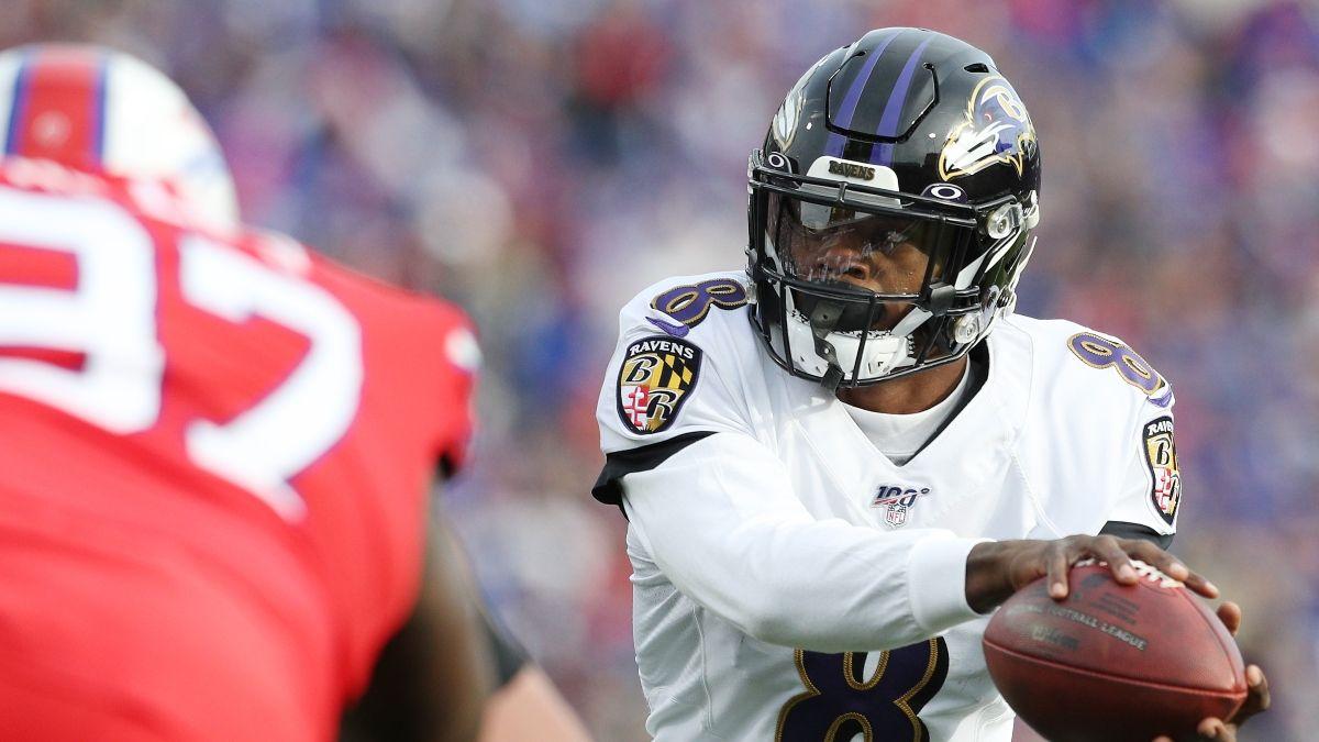Ravens vs. Raiders Prop Bets: Lamar Jackson & Darren Waller Popular Plays on Monday Night Football (September 13) article feature image