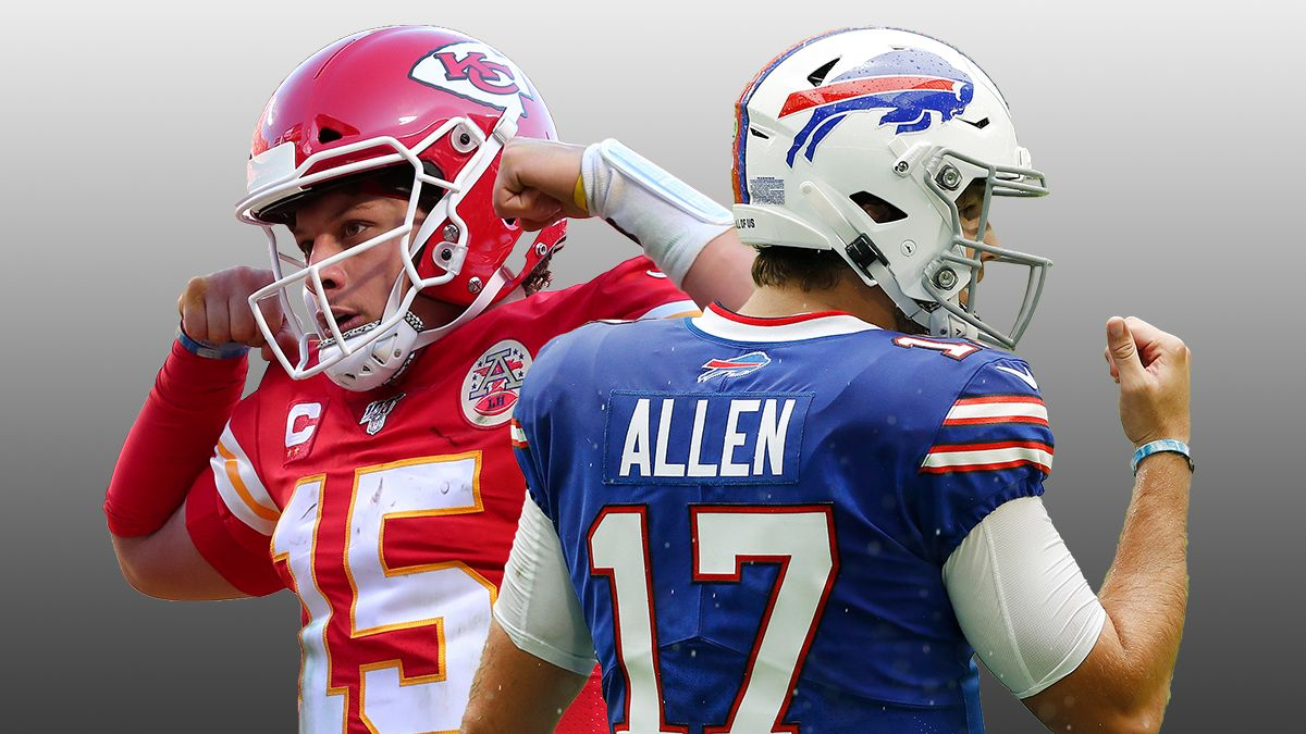 DraftKings Happy Hour Promo: Bet $10 on Chiefs vs. Bills, Win $200 if Mahomes or Allen Throws for 1+ Yard! article feature image