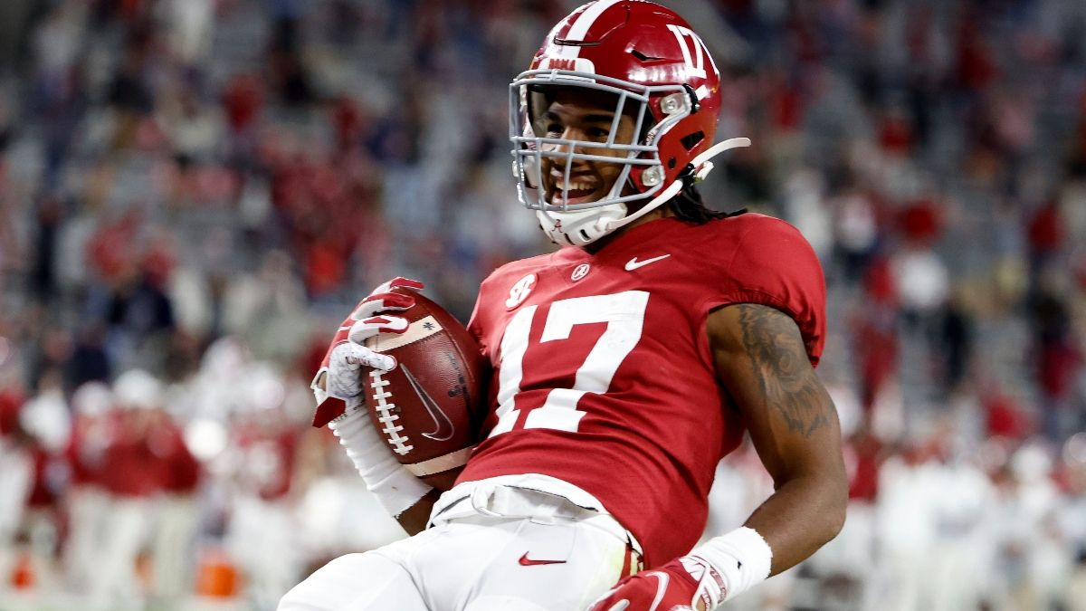 Jaylen Waddle Injury & Props: Crimson Tide Wide Receiver Active vs. Ohio State article feature image