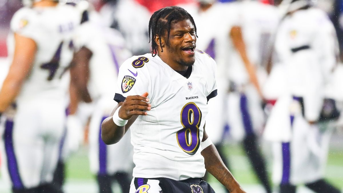 Ravens-Bills Promo: Bet $20, Win $125 if Lamar Jackson Completes a Pass article feature image