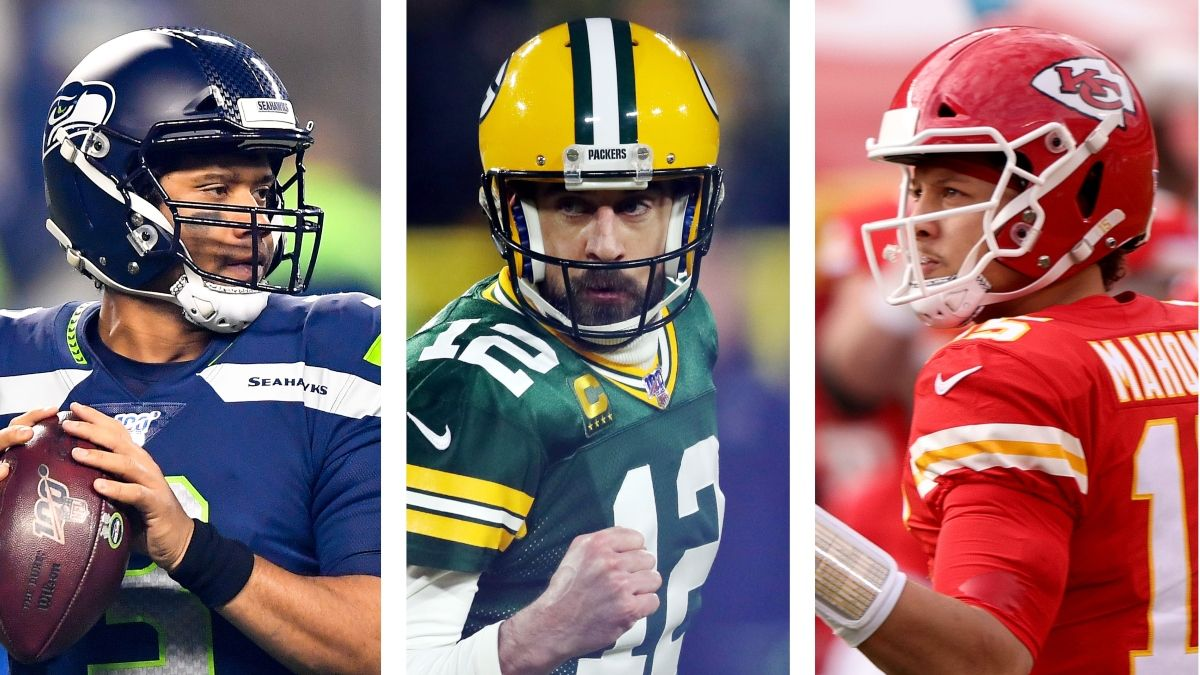 2021 NFL MVP Odds: Patrick Mahomes, Aaron Rodgers & Josh Allen Open As Favorites article feature image