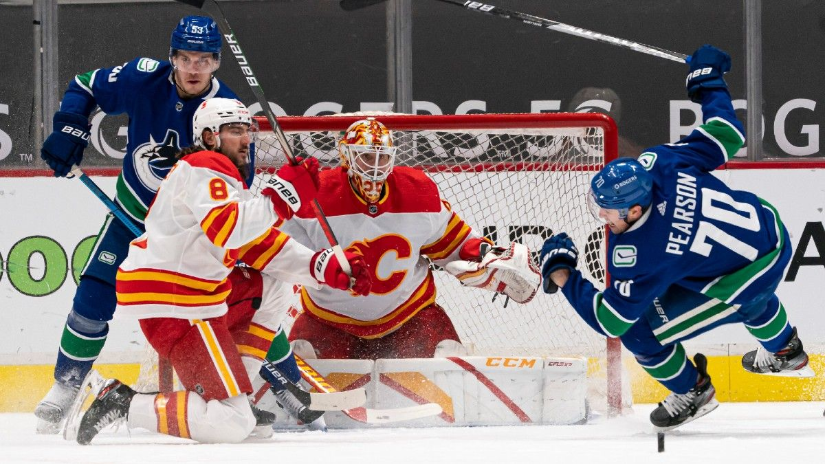 Odds & Pick for Flames vs. Canucks: Bet Calgary, But Keep an Eye on Who's Between the Pipes article feature image
