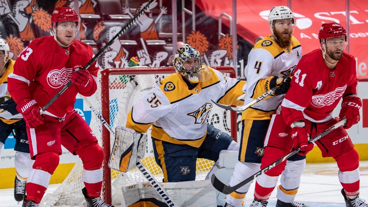 NHL Odds & Pick for Predators vs. Red Wings: Pay Attention to Who's Between the Pipes article feature image