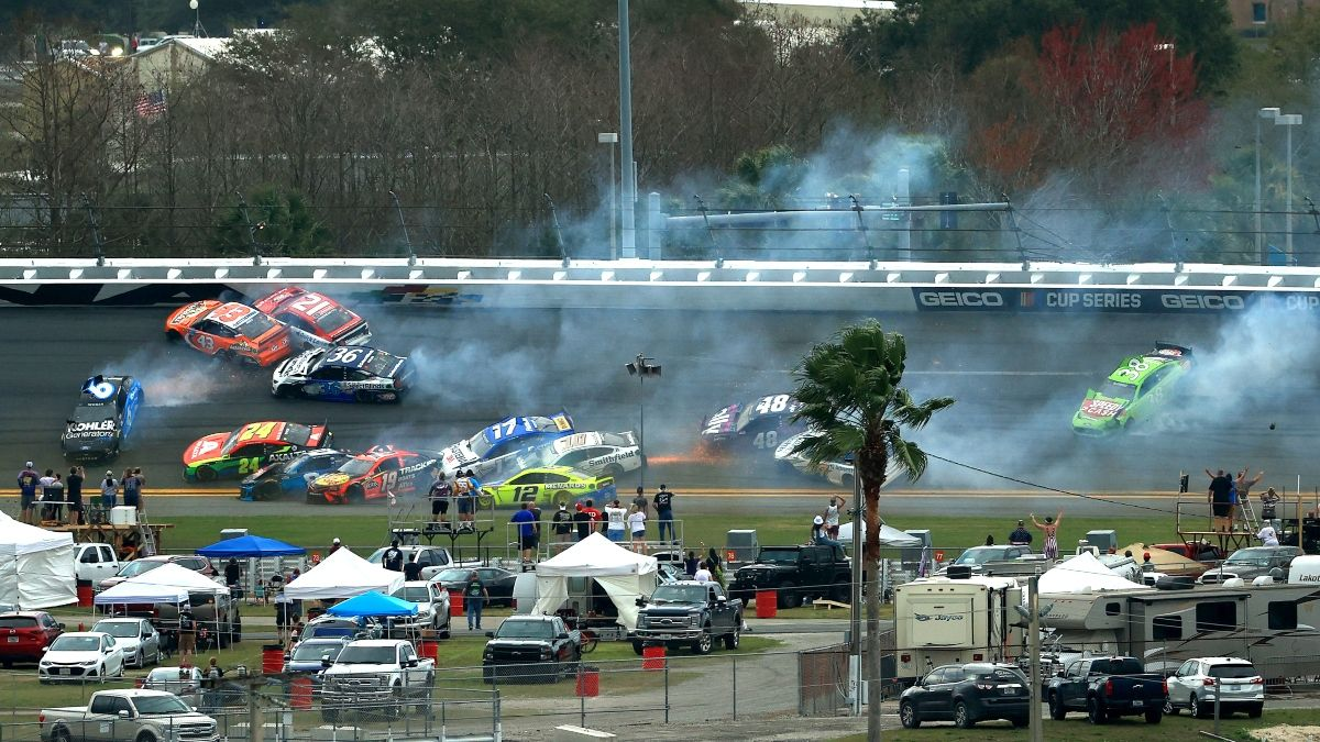 Updated Daytona 500 Weather Forecast: Sunday's Rain-Delayed Race in Danger of Postponement Until Monday article feature image