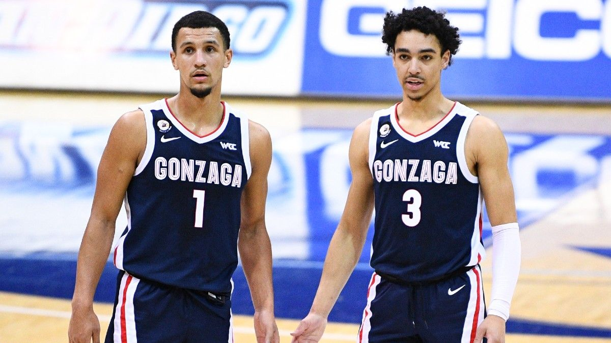 College Basketball Odds & Picks: Stuckey's Saturday Betting Card, including Gonzaga vs. San Francisco & 5 More Games (Feb. 13) article feature image