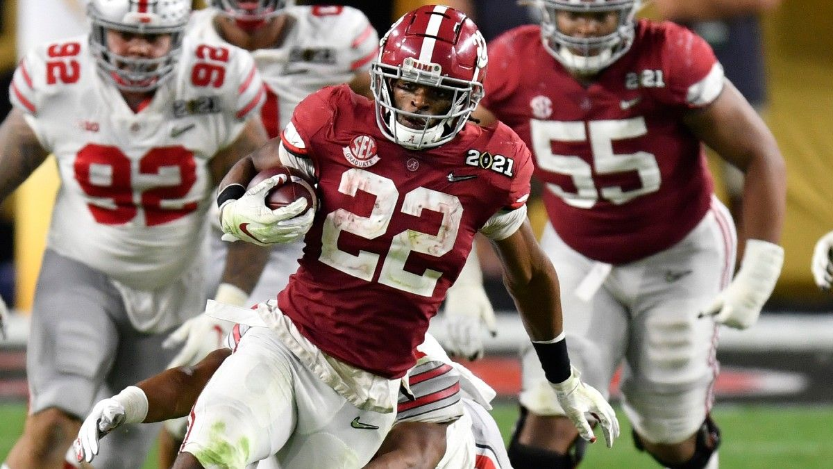 Najee Harris Dynasty Fantasy Analysis, Draft Profile & Props article feature image