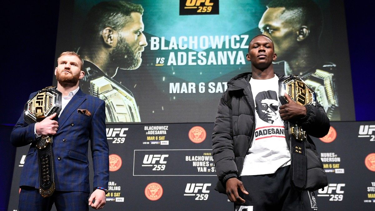 Jan Blachowicz vs. Israel Adesanya UFC 259 Odds, Pick & Prediction: Anticipate Early Finish in Main Event (Saturday, March 6) article feature image