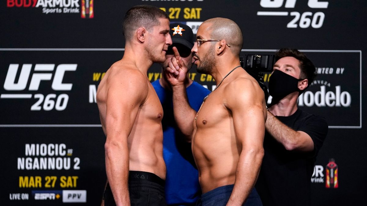 UFC 260 Odds, Pick & Prediction: Marc-Andre Barriault vs. Abu Azaitar (Saturday, March, 27) article feature image