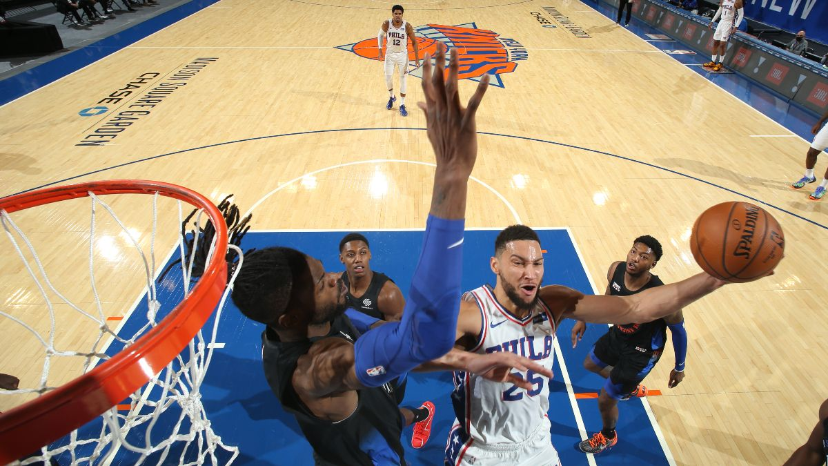 Knicks vs. 76ers NBA Odds & Picks: Philly's Hot Shooting Will Regress Without Joel Embiid (Tuesday, March 16) article feature image