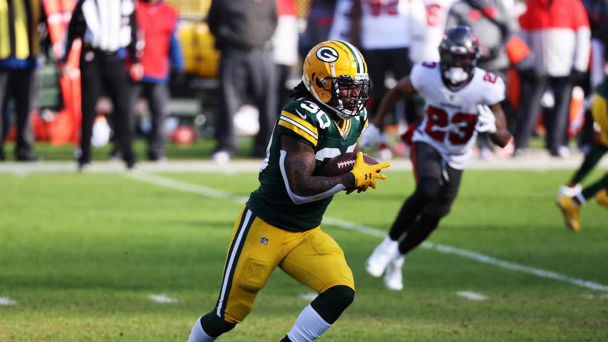 How Jamaal Williams' Deal with Lions Impacts Aaron Jones, A.J. Dillon In Fantasy article feature image