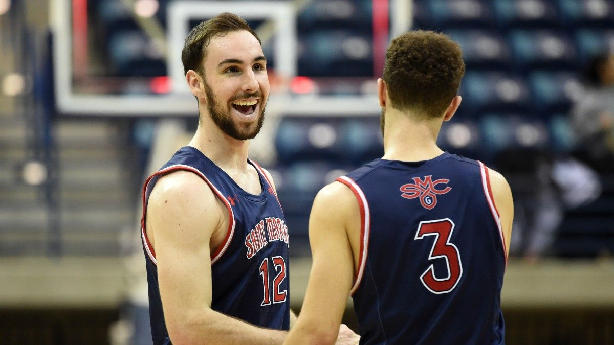 College Basketball Odds & Picks For Saturday Night: Atlantic 10, Sun Belt, Southern, WCC & Summit Tournaments article feature image