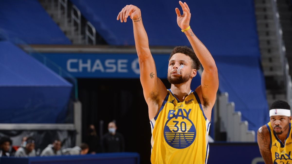 Mavericks vs. Warriors NBA Betting Odds, Prediction, Preview: Can Curry Stay This Hot? (Tuesday, April 27) article feature image