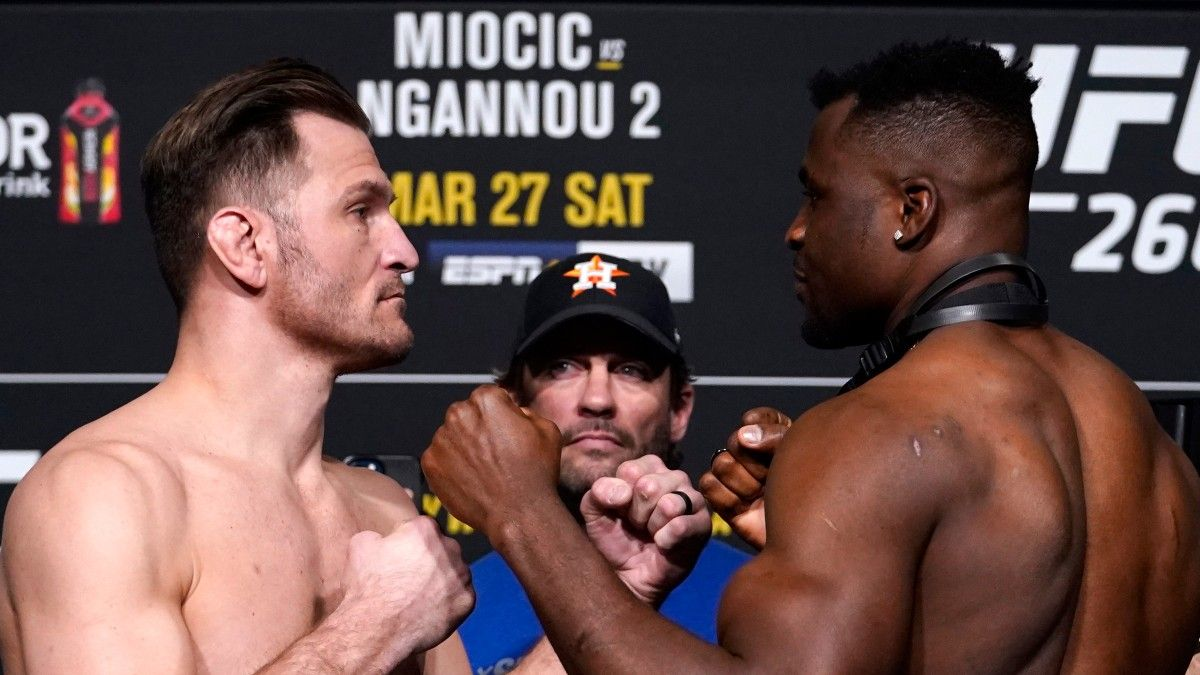 UFC 260 Betting Report: Money Coming in on Francis Ngannou Over Stipe Miocic article feature image