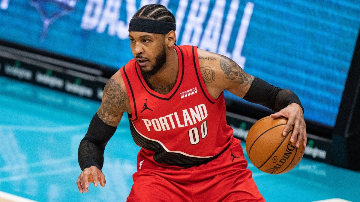 Tuesday NBA Player Prop Bets, Picks: 3 Plays for Tuesday Night, Starring Carmelo Anthony (April 27) article feature image