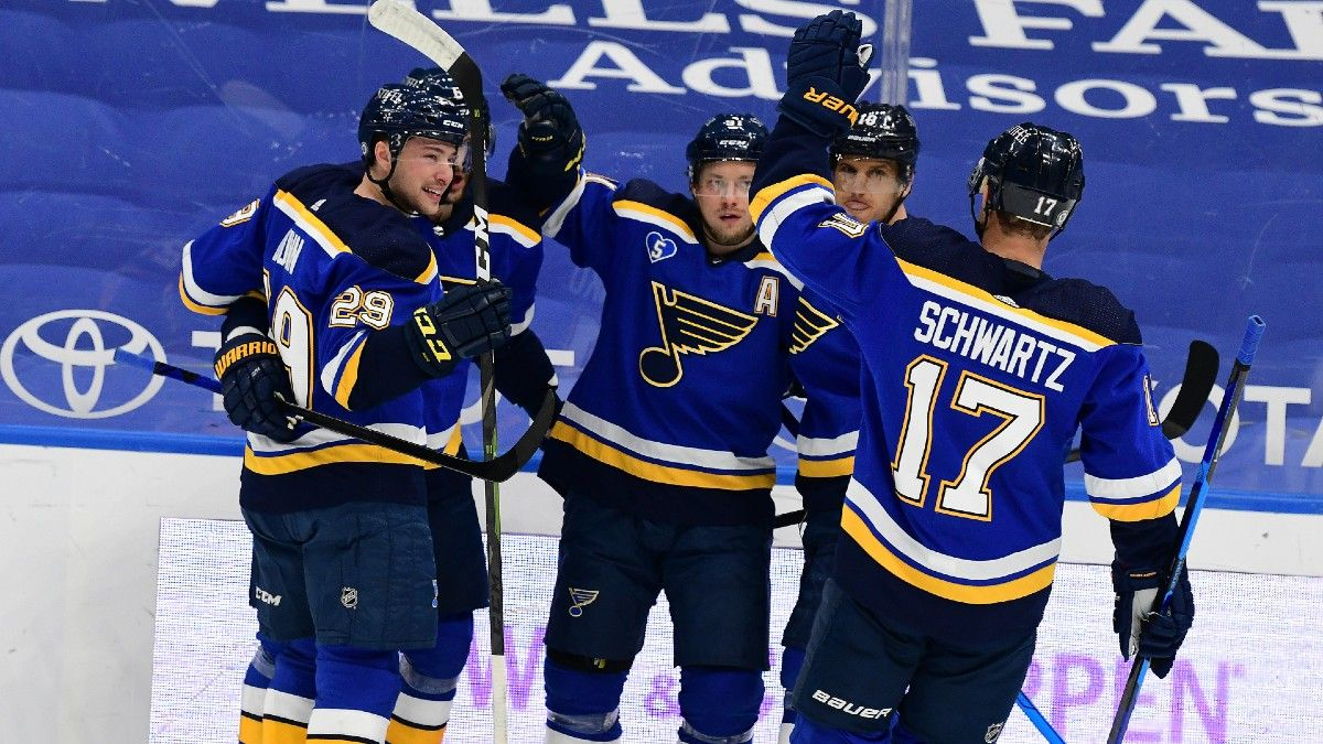 NHL Odds & Picks for Wild vs. Blues: Expect Plenty of Goals With Husso in Net article feature image