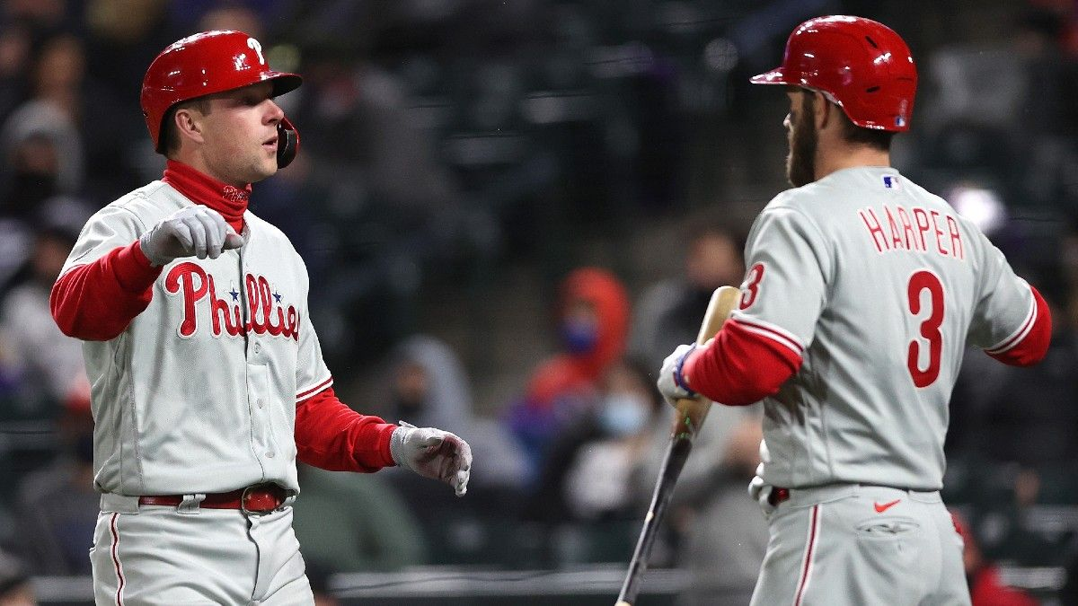 Saturday MLB Odds & Picks: 5 Best Bets Including Yankees vs. Indians, Rangers vs. White Sox & Phillies vs. Rockies (April 24) article feature image