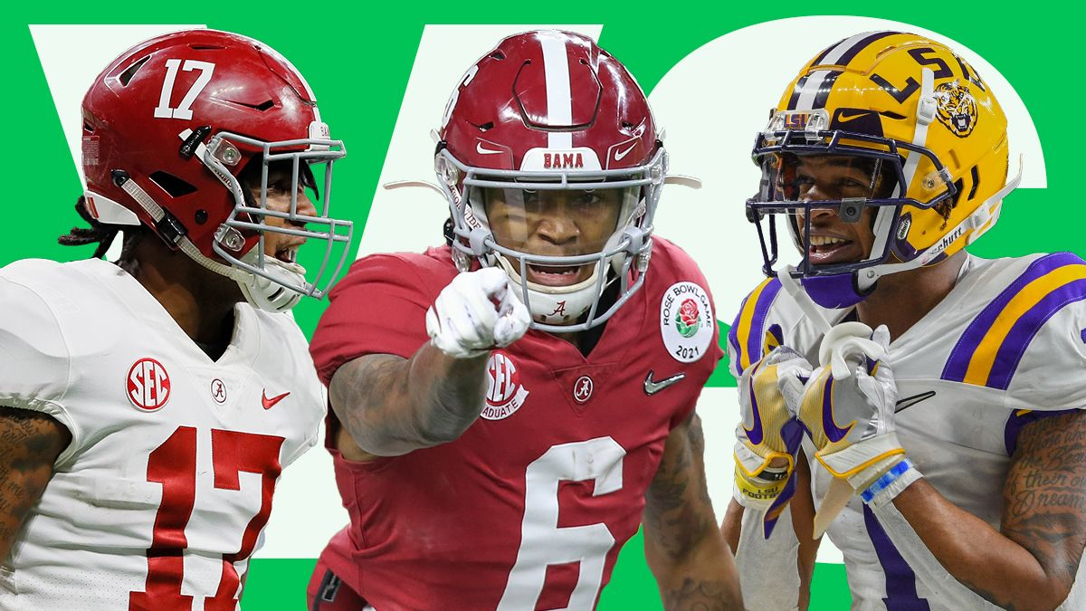 Is DeVonta Smith, Ja'Marr Chase Or Jaylen Waddle the Top WR In the 2021 NFL Draft? article feature image