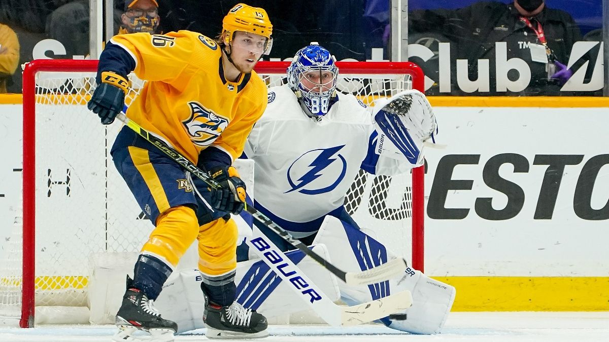 NHL Daily Betting Picks & Odds (Tuesday, April 13): Our Best Bets for Devils vs. Rangers, Predators vs. Lightning & More article feature image