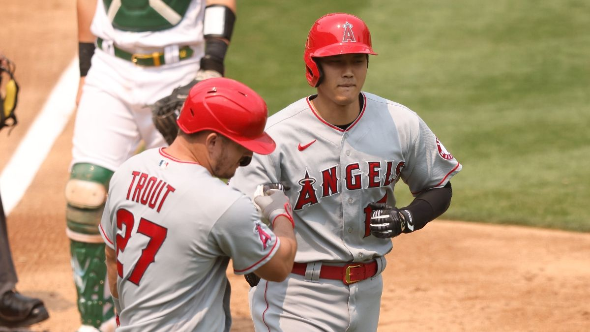Angels vs. Twins Odds, Promo: Bet $1, Win $100 if Mike Trout or Shohei Ohtani Reach Base! article feature image
