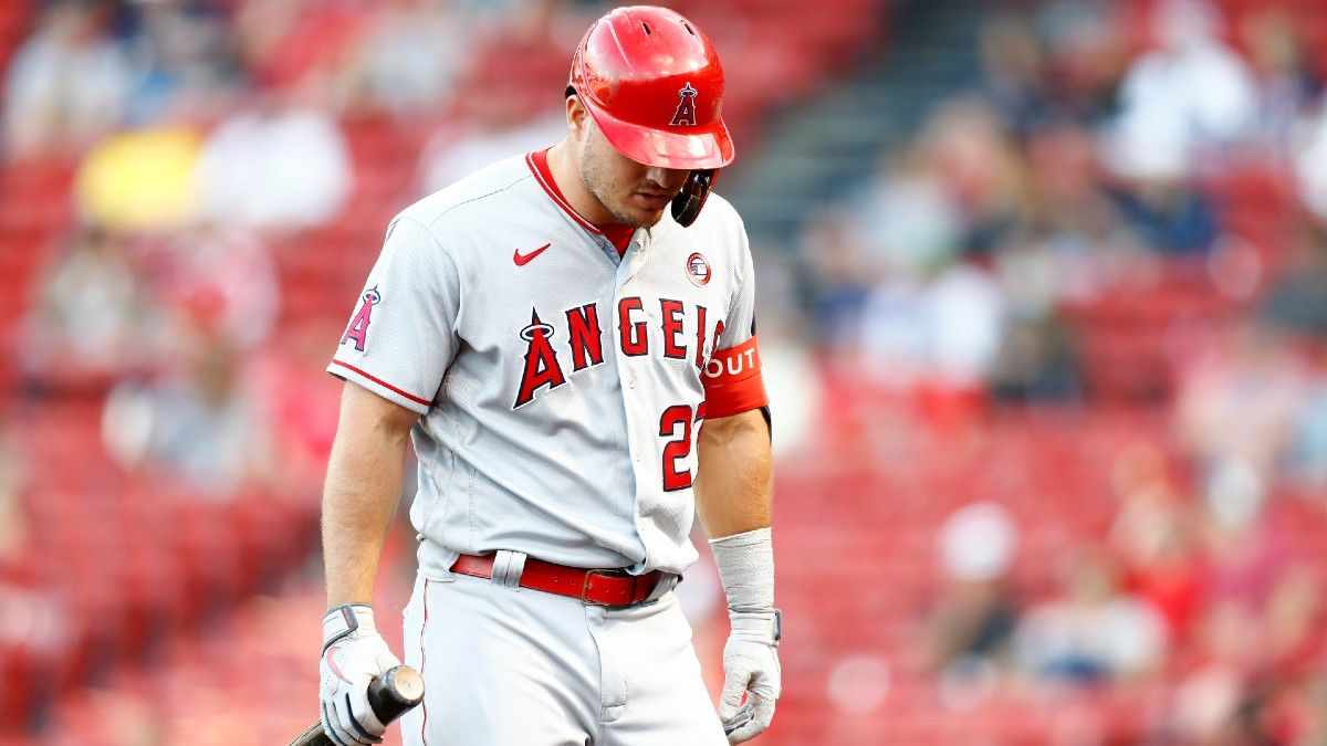 How Mike Trout's Injury Impacts the Angels' Projected Wins, Playoff Odds, World Series Odds & More article feature image