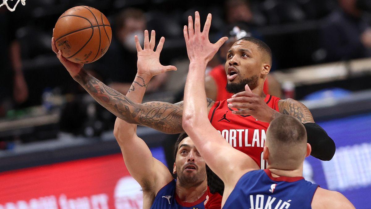 Trail Blazers vs. Nuggets Game 2 NBA Odds & Picks: Sharps Fading Damian Lillard & Nikola Jokic (May 24) article feature image