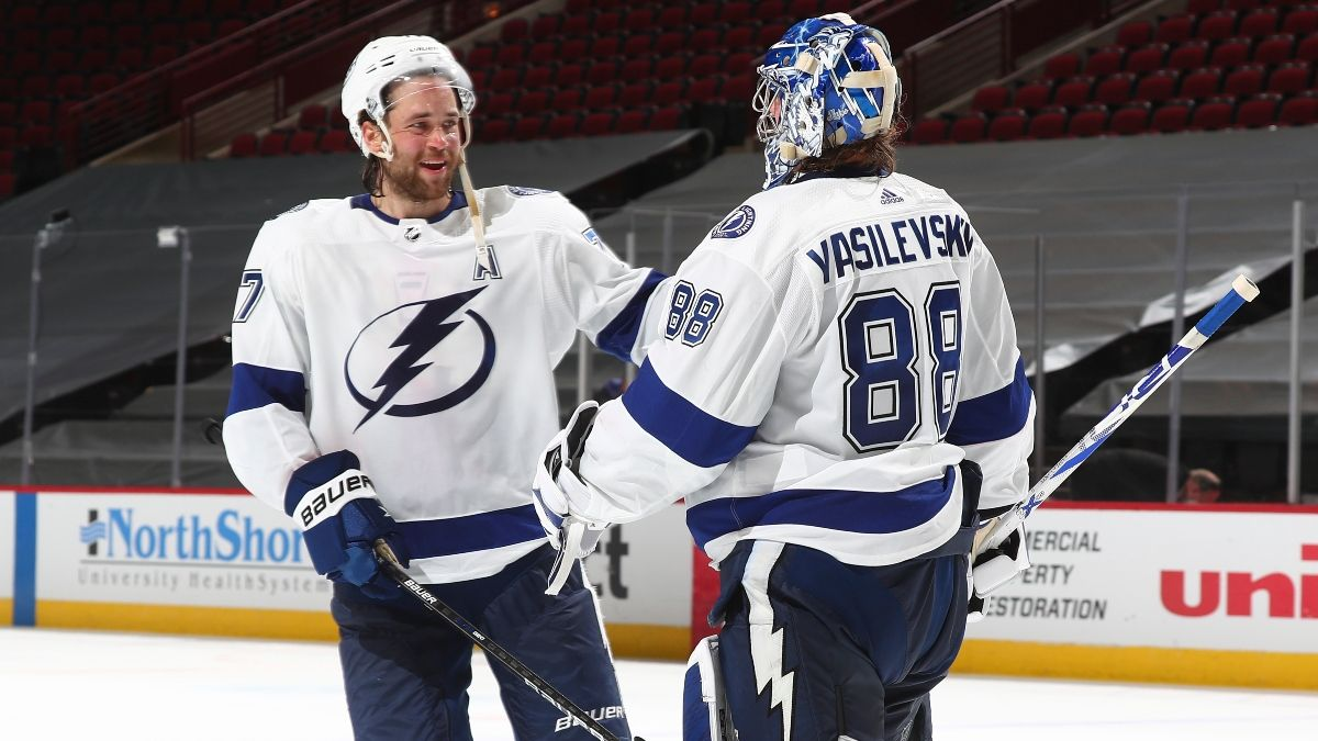 NHL Daily Odds & Picks (Wednesday, May 5): Our Best Bets for Rangers vs. Capitals, Stars vs. Lightning & Predators vs. Blue Jackets article feature image
