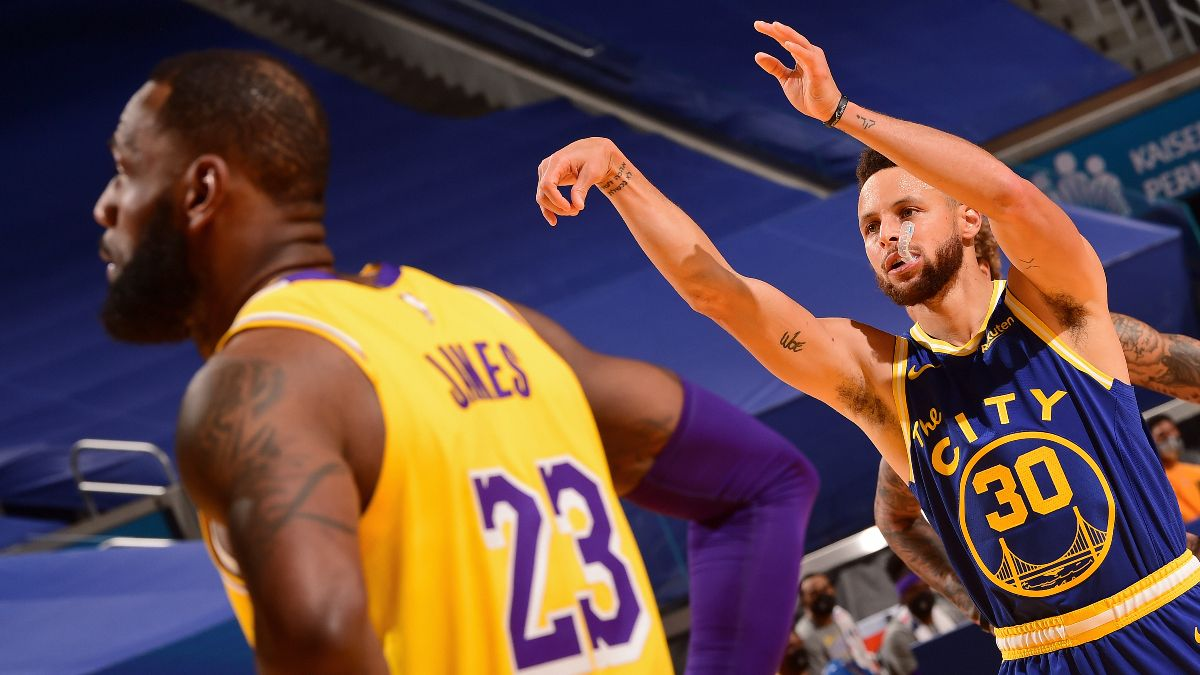 NBA Play-In Tournament Odds, Pick, Prediction for Warriors vs. Lakers: Betting Preview for Star-Filled Matchup (Wednesday, May 19) article feature image