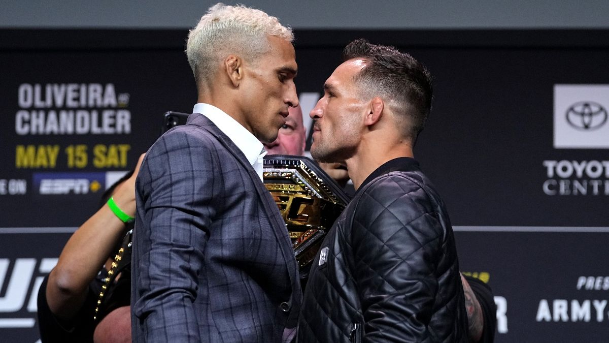 UFC 262 Charles Oliveira vs. Michael Chandler Odds, Pick, Preview: Betting Preview for Lightweight Title Fight (May 15) article feature image