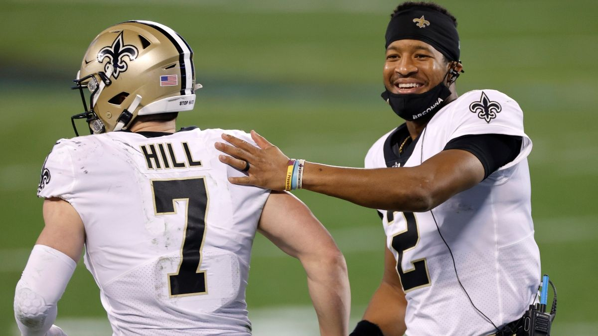 Which Saints QB Will Start Week 1? Odds For Jameis Winston vs. Taysom Hill article feature image