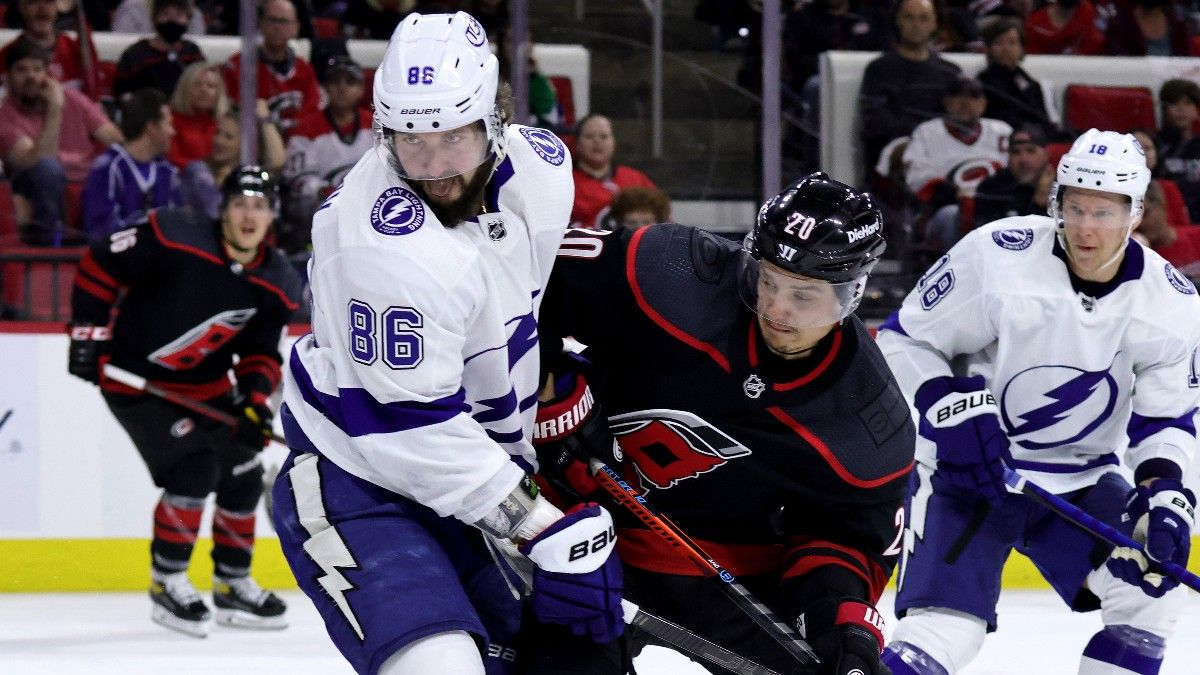 Thursday NHL Odds, Picks, Predictions: Hurricanes vs. Lightning Betting Preview for Game 3 (June 3) article feature image