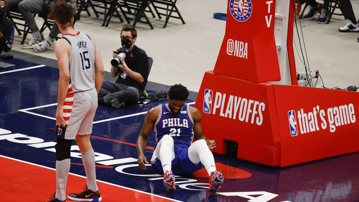 Joel Embiid Knee Injury Moves NBA Title Odds, but 76ers Remain Big Favorites Over Wizards article feature image