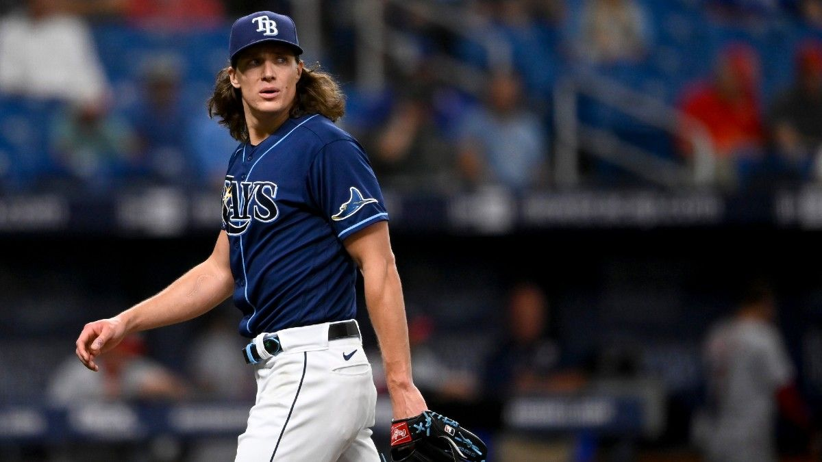 How Tyler Glasnow's Injury Impacts the Rays' Projected Wins, Playoff Odds, World Series Odds & More article feature image